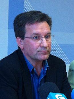 El portavoz nacional del BNG, Xavier Vence, en rueda de prensa