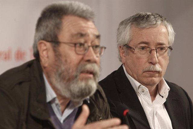 Cándido Méndez (UGT) e Ignacio Fernández Toxo (CC.OO.)
