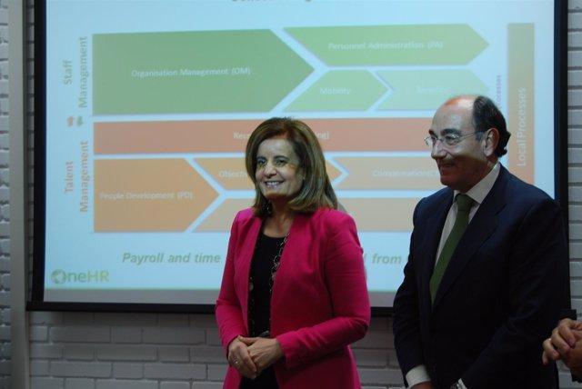 Fátima Báñez e Ignacio Sánchez Galán