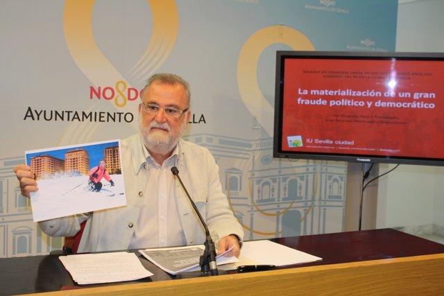 El portavoz de IU en el Ayuntamiento de Sevilla, Antonio Rodrigo Torrijos