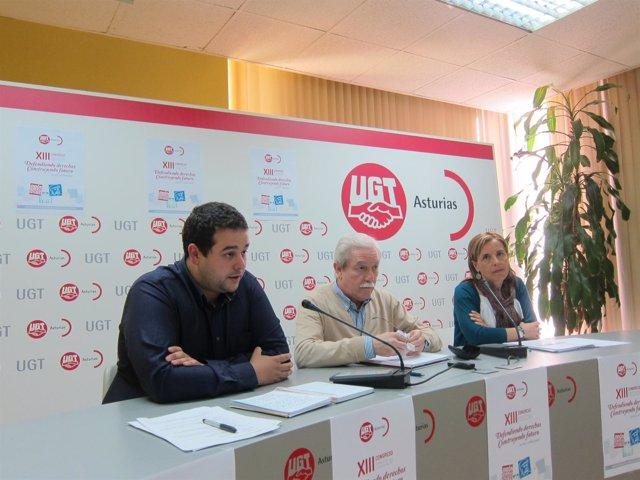 Por la izquierda, Braga, Suárez y Celemín, en rueda de prensa.