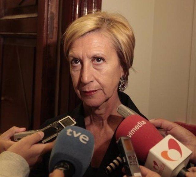 Rosa Díez, portavoz de UPyD en el Congreso