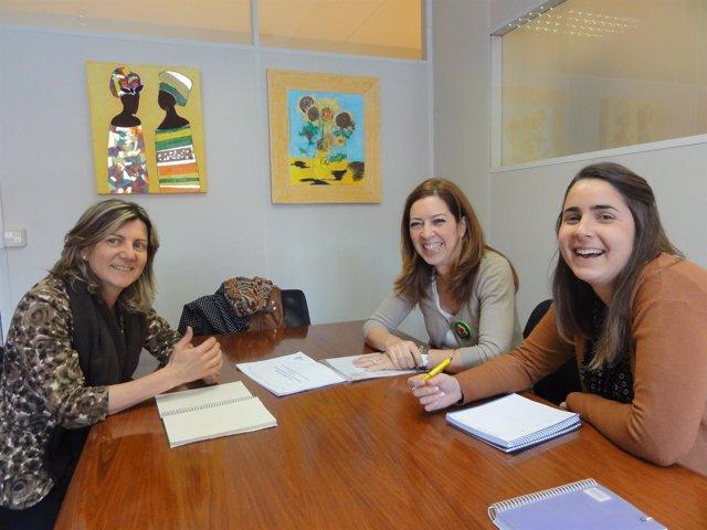 Botín, Áriz y Rodríguez en el encuentro