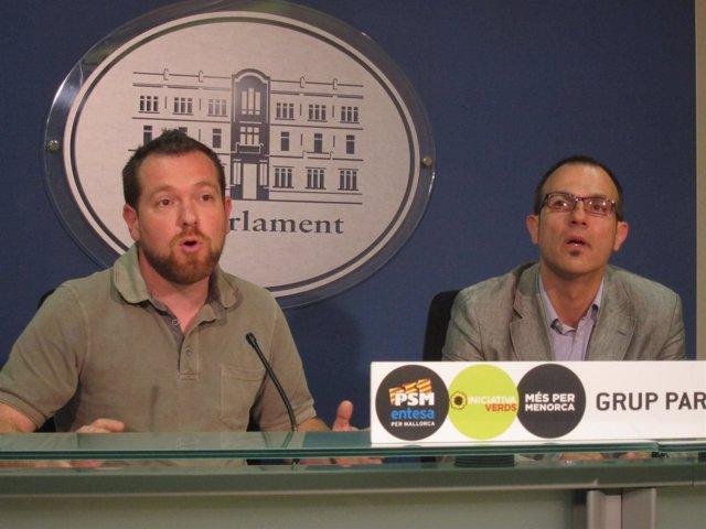 Barceló y Abril en rueda de prensa
