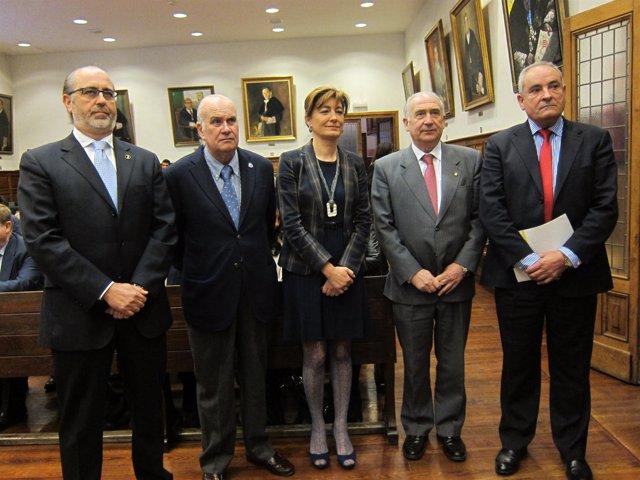 Por la izquierda, Núñez, Balbín, Díaz, Gotor y Mallada.
