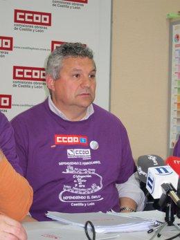 El sindicalista Juan Carlos Cáceres