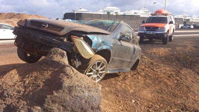 Accidente de tráfico en Yaiza