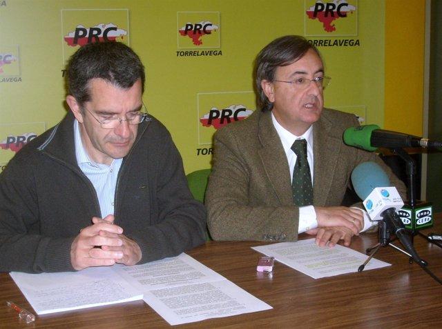 Pedro Pérez Noriega y Pedro García Carmona, ediles del PRC de Torrelavega