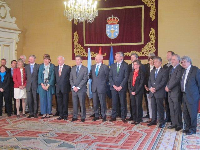 Recepción de Núñez Feijóo y Margallo a embajadores de la UE