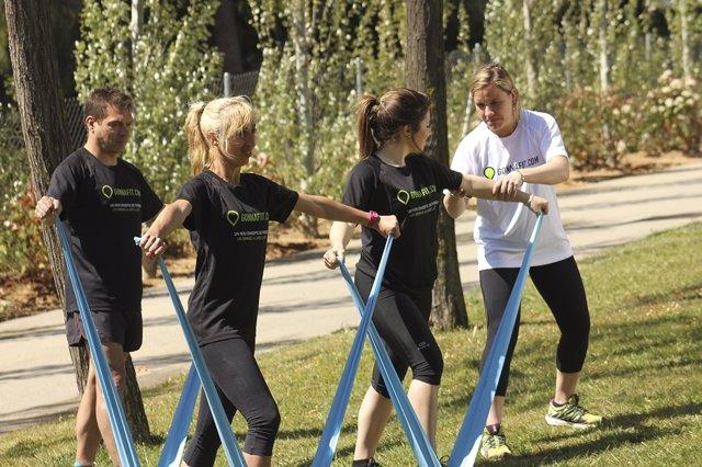 Imagen promocional del gimnasio al aire libre Gonnafit