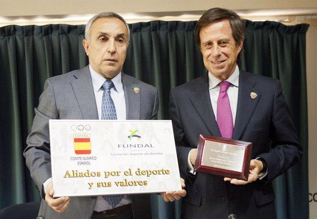 Alejandro Blanco y el alcalde de Alcobendas, Ignacio García Vinuesa