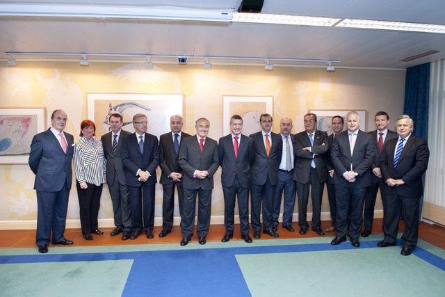 Reunión del lehendakari con miembros de Cebek