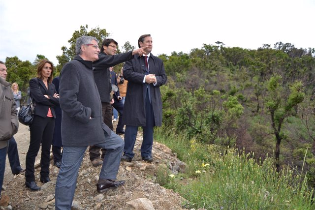 Visita del conseller Pelegrí a la zona afectada