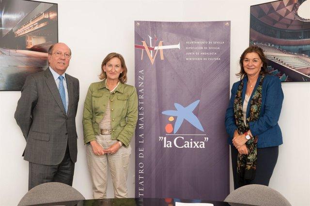 Firma de convenio entre La Caixa y Teatro de la Maestranza