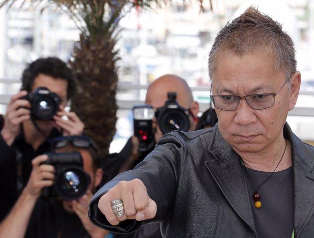 El director japonés Takashi Miike en Cannes