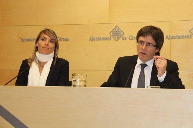 El alcalde Carles Puigdemont hace balance de 'Temps de Flors'