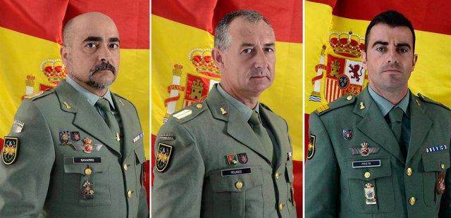 Los tres militares muertos en la base de la Legión en Viator (Almería)
