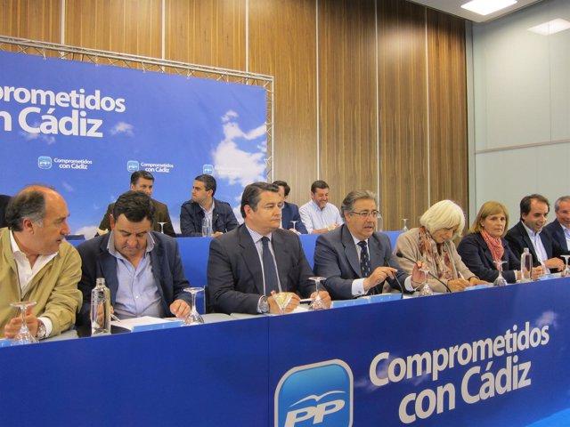 Juan Ignacio Zoido (PP-A), preside la Junta Directiva del PP de Cádiz