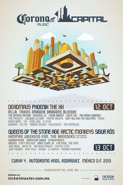El festival Corona Capital revela su cartel, encabezado por The XX, Phoenix y Artic Monkeys