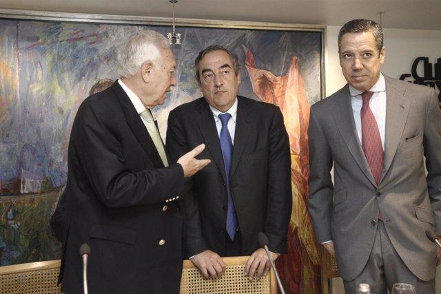 Juan Rosell, José Manuel García Margallo y Eduardo Zaplana