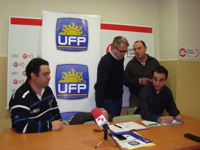 Representantes de UFG y UGT, en Segovia.