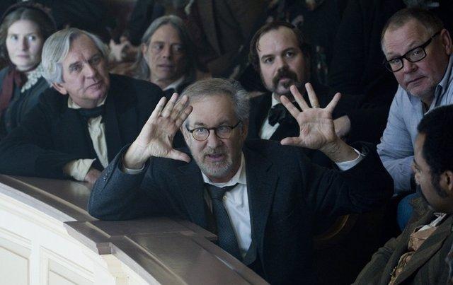 Steven Spielberg en el rodaje de Lincoln