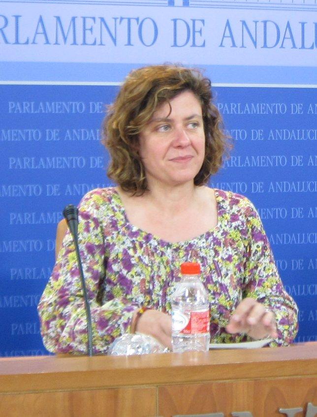 Alba Doblas, hoy en rueda de prensa