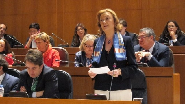Luisa Fernanda Rudi, durante su intervención