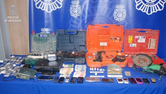 Articulados encontrados en registro de la Policía Nacional
