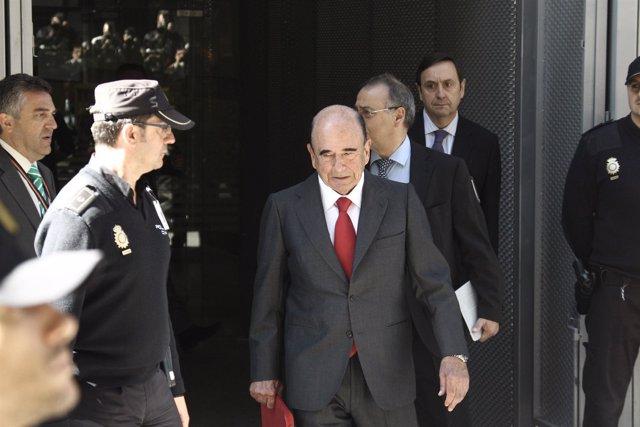 Emilio Botín, en la Audiencia Nacional