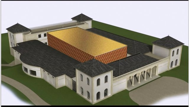 Infografía del futuro Palacio