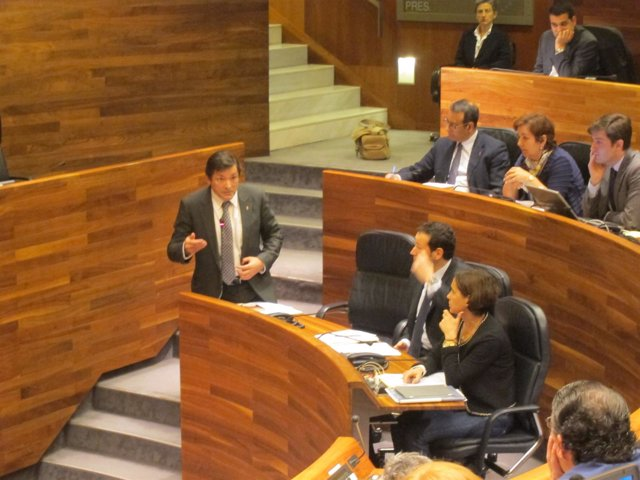 Javier Fernández en el Pleno de la Junta General
