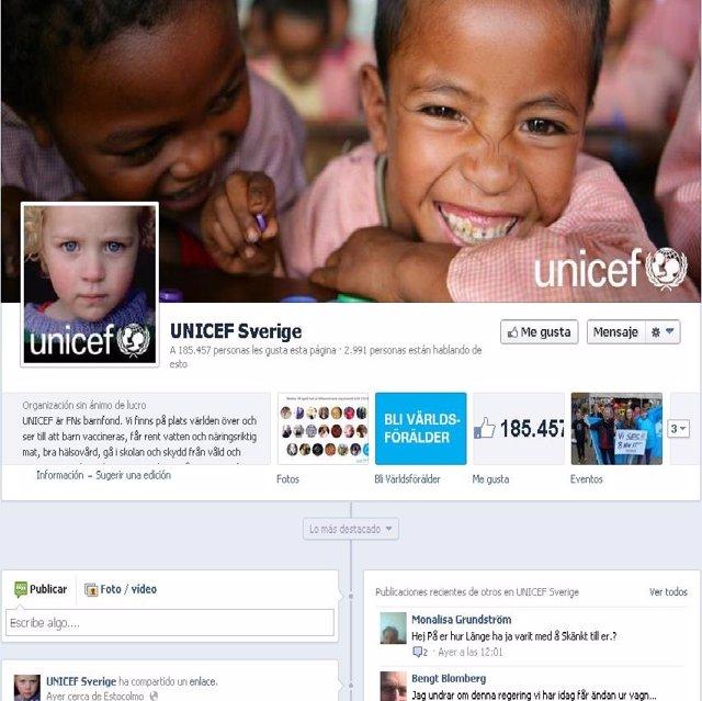 Unicef denuncia que los 'Me Gusta' de Facebook no salvan vidas