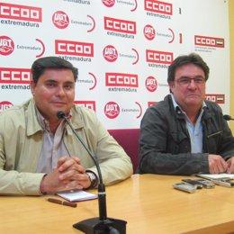 Capilla y Carretero, UGT, CCOO Extremadura