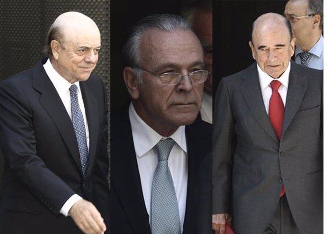 Montaje de Fainé, Botín y González