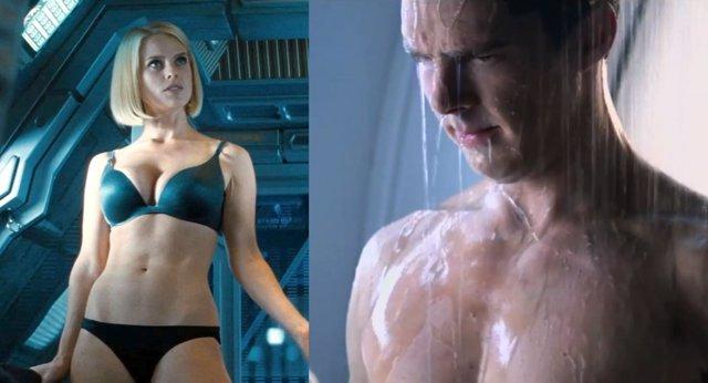 Imágenes de Alice Eve y Cumberbatch en Star Trek