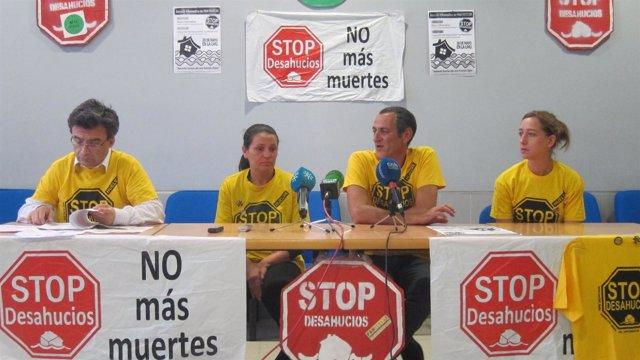 María del Carmen Andújar, beneficiada por decreto antidesahucios de la Junta.