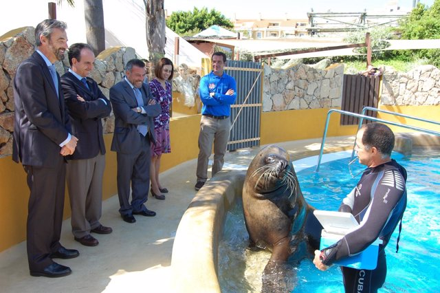 Rafael rodríguez visita Selwo Marina, turismo parques reunidos