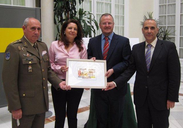 Acto de presentación del cupón de la ONCE dedicado a las Fuerzas Armadas