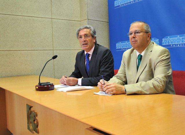 Pineda y Moreno Calderón en la rueda de prensa