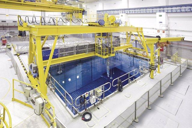 Piscina de combustible de la central nuclear de Santa María de Garoña