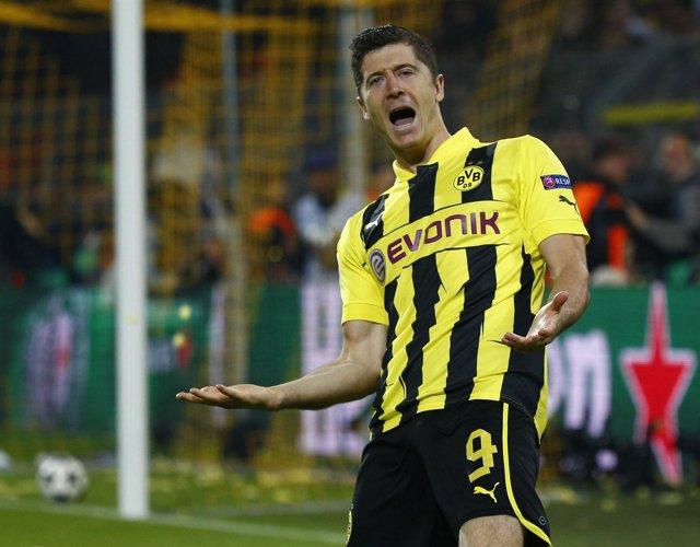El jugador del Borussia Dortmund Robert Lewandowski