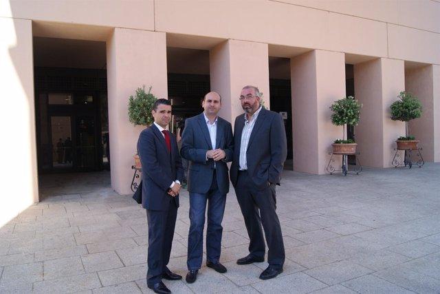 Los socialistas José Bernal, Francisco Conejo y David Valadez