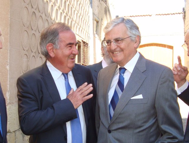 Torres-Dulce (d) y Gil Robles en Segovia