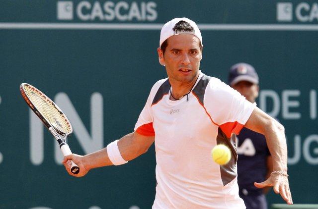El tenista español Albert Montañés