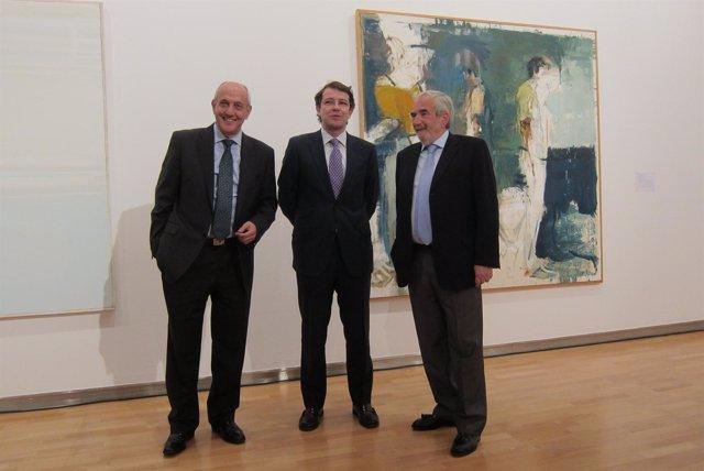 Fernández Mañueco (c), Díaz (i) y Población (d)