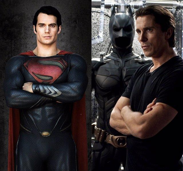 Henry Cavill Es Superman Y Christian Bale Es Batman