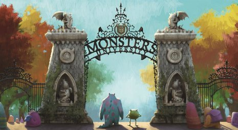 """MONSTERS UNIVERSITY""   Concept Art.  2012 Disney/Pixar. All Rights Reserved"