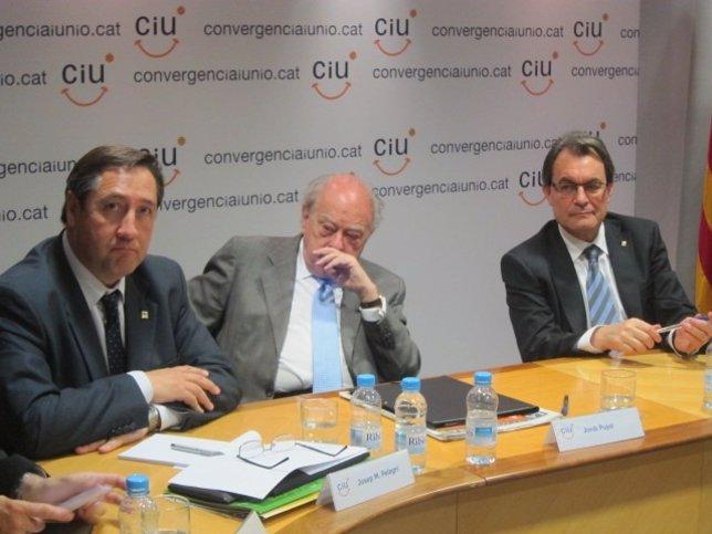 Josep Maria Pelegrí, Jordi Pujol y Artur Mas