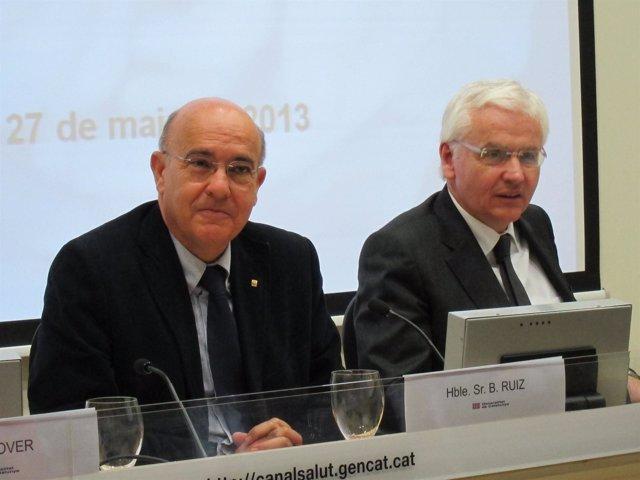 Los consellers de Salud, Boi Ruiz, y de Cultura, Ferran Mascarell